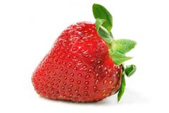 Strawberries in water Royalty Free Stock Photos