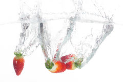 Strawberries in water Stock Photography