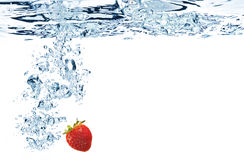 Strawberries in water Stock Photo