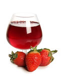 Strawberries water Royalty Free Stock Image