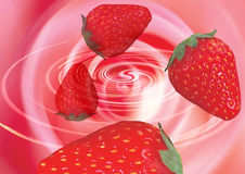 Strawberries in a whirlpool Stock Photo