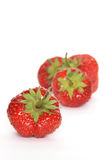 Strawberries On White Stock Photography