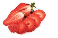Strawberries on White Stock Photos