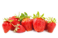 Strawberries on white Stock Image