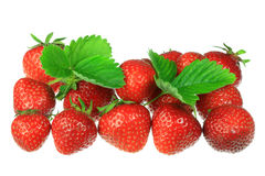 Strawberries on white. stock photography
