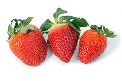 Strawberries on white Royalty Free Stock Images