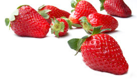 Strawberries on white background Royalty Free Stock Images