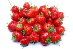 Strawberries on a white background. Fresh juicy strawberries on a white background stock photo