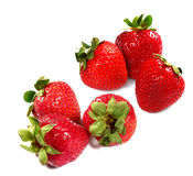 Strawberries on white background Royalty Free Stock Photography