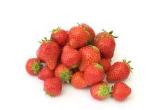 Strawberries on white background. Fresh strawberries on white background Royalty Free Stock Image