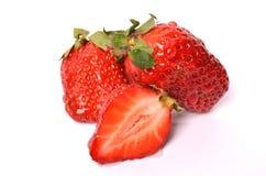 Strawberries. On a white background Stock Photos