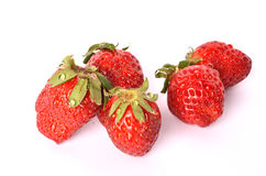 Strawberries. On a white background Stock Images