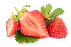 Strawberries. On a white background Royalty Free Stock Photos