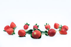 Strawberries on a white background Royalty Free Stock Images