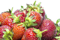 Strawberries on white background Stock Image