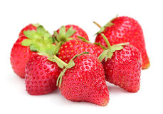 Strawberries on white background. Royalty Free Stock Photos