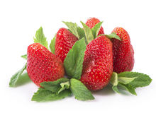 Strawberries on a white background. Royalty Free Stock Photos