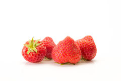 Strawberries on a white background. Some strawberries put on a white background royalty free stock photos