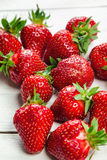 Strawberries On White Board Stock Photography