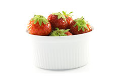 Strawberries in a White Dish Royalty Free Stock Photo
