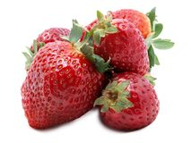 Strawberries on white four Royalty Free Stock Photos