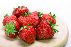 Strawberries  on a white Royalty Free Stock Images