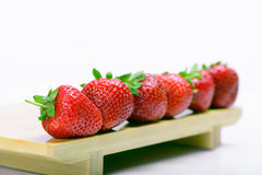 Strawberries  on a white Stock Photos