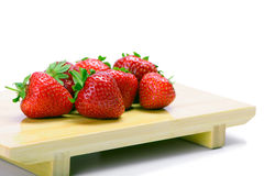 Strawberries  on a white Royalty Free Stock Photo