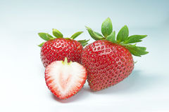strawberries on white - Stock Image Royalty Free Stock Photos