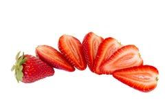 Strawberries on white Royalty Free Stock Photos