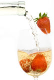 Strawberries in white wine Royalty Free Stock Photography