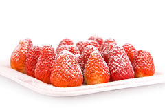 Strawberries With Sugar Powder Royalty Free Stock Photography
