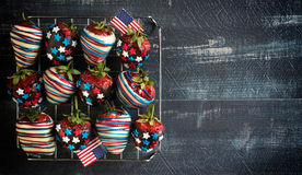 Strawberries With USA Flag Decoration Stock Image