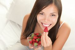 Strawberries woman Stock Image