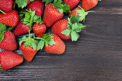 Strawberries on a wood Stock Photo