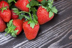 Strawberries on a wood Royalty Free Stock Images