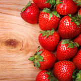 Strawberries on Wooden Background Royalty Free Stock Image