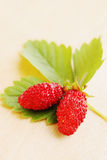 Strawberries on a wooden board Stock Photography