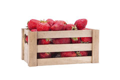 Strawberries in wooden box Royalty Free Stock Photography