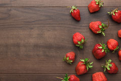 Strawberries on the wooden table Royalty Free Stock Images