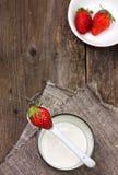 Strawberries and yogurt Stock Photography
