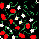 Strawberris pattern Stock Photography