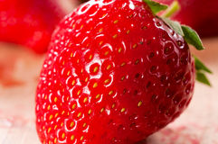 Strawberriy macro Stock Photo