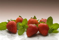 Strawberry. Group of fresh strawberries on the marble Royalty Free Stock Images