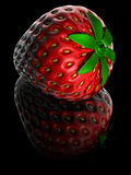 Strawberry. Isolated on black Royalty Free Stock Photos