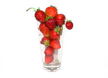 Strawberry . Strawberry in a glass, on a white background Royalty Free Stock Image