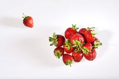Strawberry. Red strawberry on white background Stock Photos