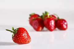 Strawberry. Red strawberry on white background Stock Images