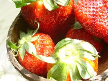 Strawberry. Diet fruits: strawberry stock photo
