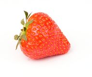 Strawberry. Close-up on white background Royalty Free Stock Photo